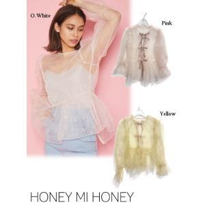 Honey mi Honey  ハニーミーハニー ribbon organdie blouse  2...
