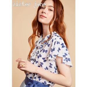 sister jane シスタージェーン Bow Print Ruffle Blouse    19秋冬予約 20SJ0BL846|hearty-select