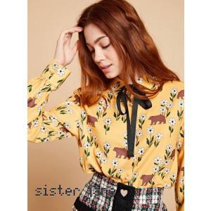 sister jane シスタージェーン Bear Print Shirt  19秋冬予約 20SJ0BL847|hearty-select