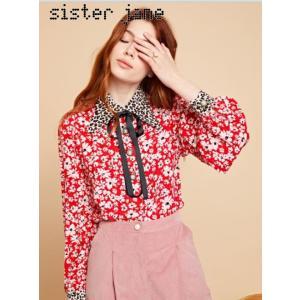 sister jane シスタージェーン Mixed Print Retro Collar Blouse  19秋冬予約 20SJ0BL849|hearty-select