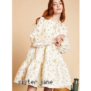 sister jane シスタージェーン Star Jacquard Tiered Mini Dress   19秋冬予約 20SJ0DR1099|hearty-select