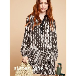sister jane シスタージェーン Mini Pleat Dress in Retro Print   19秋冬予約 20SJ0DR1100|hearty-select