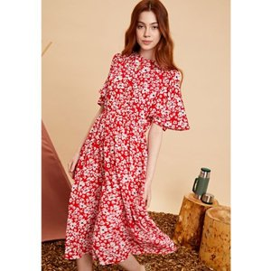 sister jane シスタージェーン Flare Sleeve Floral Midi Dress   19秋冬 20SJ0DR1102 マキシワンピース|hearty-select