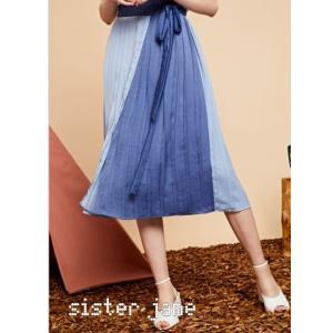 sister jane シスタージェーン Mixed Tone Pleated Wrap Skirt  19秋冬 20SJ0SK334 フレアスカート|hearty-select