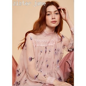 sister jane シスタージェーン Embroidered Tulle Top  19秋冬 20SJ0TO412 シャツ・ブラウス|hearty-select
