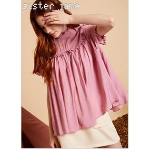 sister jane シスタージェーン Pleated Ruffle Top  19秋冬予約 20SJ0TO413|hearty-select