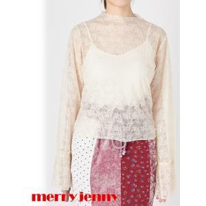 セール50%OFF  merry jenny  メリージェニー レースシースルーtops  18春夏 281812701001|hearty-select