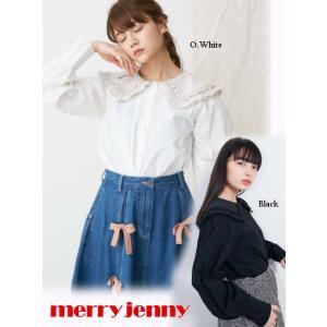 60%OFF merry jenny メリージェニー  フリルカラーパフスリーブブラウス  19春夏. 281910401401 シャツ・ブラウス  定価 7900円|hearty-select