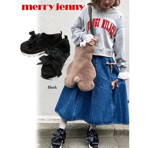 30%OFF merry jenny  メリージェニー リボン スニーカー  19春夏 281911800301  スニーカー 定価9900円|hearty-select