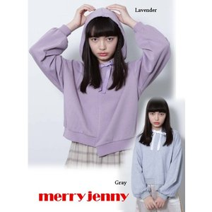 60%OFF merry jenny メリージェニー  アシメリボンフーディー  19春夏 281912700801 スウェット・パーカー  定価 7500円|hearty-select
