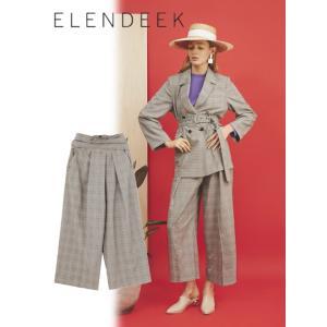 セール50%OFF  ELENDEEK エレンディーク CROSS SASH CHECK  パンツ  18春夏. 511810720301|hearty-select