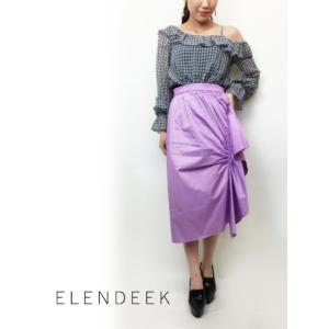 セール50%OFF  ELENDEEK エレンディーク RECTANGULAR SKIRT  18春夏 511820820301|hearty-select
