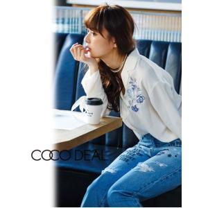 夏セール50%OFF! COCO DEAL(ココディール)ロゴ刺繍ボーイズデニムパンツ  17春夏.【77216254】|hearty-select