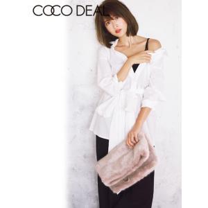 COCO DEAL(ココディール)レースアップハイウエストサスペンダー付きワイドパンツ  17秋冬【77516010】|hearty-select