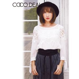 COCO DEAL(ココディール)モチーフレースブラウス  17秋冬予約【77518067】 hearty-select