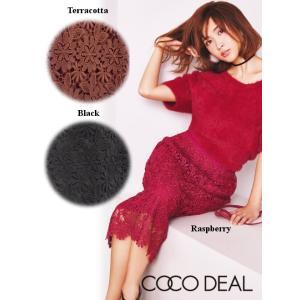 COCO DEAL(ココディール)エンブロイダリーレーススカート  17秋冬.【77617234】|hearty-select