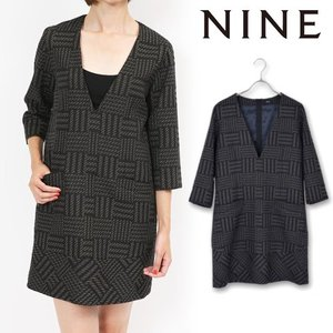 70%OFF NINEナイン チェックラメジャカードワンピース  15秋冬. 9012209015AW-S|hearty-select