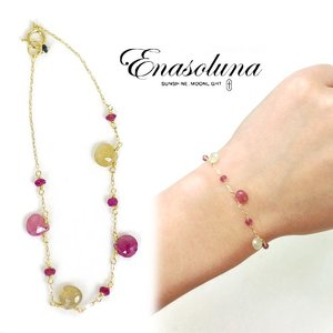 Enasoluna(エナソルーナ)Girls talk bracelet  【BS-1051】|hearty-select