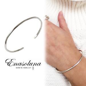 Enasoluna エナソルーナ Flow bangle  BS-1359 ブレスレット・アンクレット  SV925 母の日 ギフト プレゼント|hearty-select