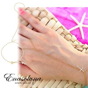 Enasoluna エナソルーナCross on the skin bracelet BS-943 母の日 プレゼント ギフト ブレスレット・アンクレット|hearty-select