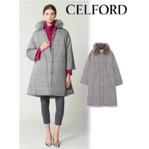 50%OFF  CELFORD セルフォード Aライン中綿コート  18秋冬 CWFC184024|hearty-select