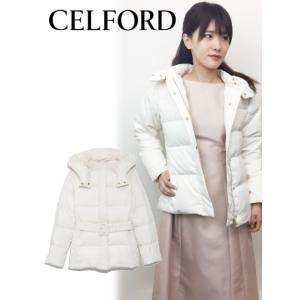 40%OFF CELFORD セルフォード  ベルト付きダウンコート  18秋冬. CWFC185001ダウン|hearty-select