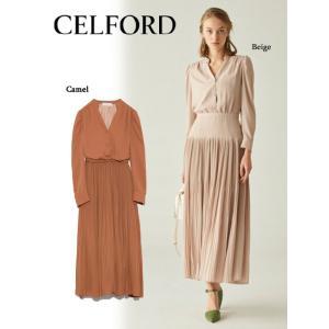 50%OFF CELFORD セルフォード  シフォンティアードワンピース  19春夏 CWFO191041 マキシワンピース  定価 23000円|hearty-select