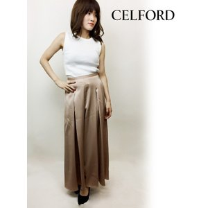 50%OFF  CELFORD セルフォード サテンワイド パンツ  18秋冬 CWFP184050|hearty-select