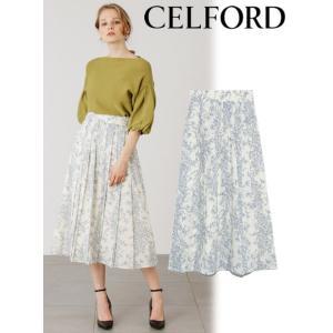 CELFORD  セルフォード ボタニカルバードプリントスカート  19秋冬予約 CWFS194048|hearty-select