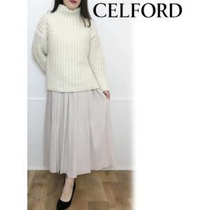 CELFORD  セルフォード ミックスプリーツスカート  19秋冬予約 CWFS194056|hearty-select