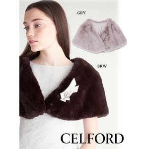 40%OFF CELFORD セルフォード  ファーケープ  18秋冬. CWGG185526マフラー・ストール|hearty-select