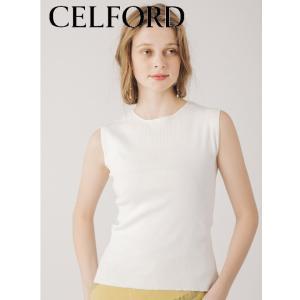 50%OFF CELFORD セルフォード  リブニットプルオーバー  19春夏. CWNT192059 ニットトップス  定価 8000円|hearty-select