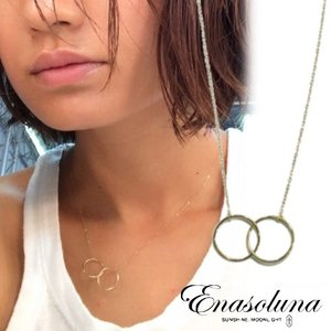 Enasoluna エナソルーナ W oh necklace   EN-NK-1145 母の日 プレゼント ギフト ネックレス hearty-select