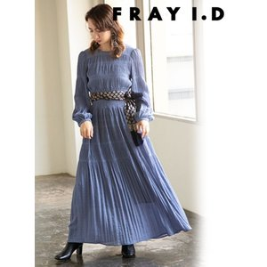 FRAY I.D フレイアイディー シャーリングプリーツワンピース  19秋冬予約 FWFO194098|hearty-select