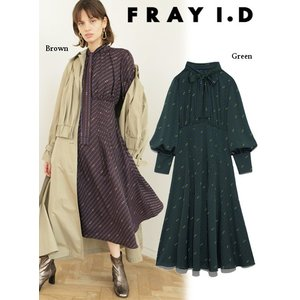 FRAY I.D フレイアイディー レトロフィットチェーン柄ワンピース  19秋冬予約 FWFO194211|hearty-select