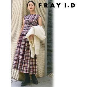 FRAY I.D フレイアイディー タックフレアワンピース  19秋冬予約 FWFO194527|hearty-select