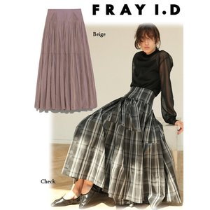 FRAY I.D フレイアイディー プリーツタックタフタスカート  19秋冬予約 FWFS194517|hearty-select
