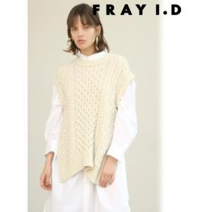 FRAY I.D フレイアイディー アランニットベスト  19秋冬予約 FWNT194208|hearty-select