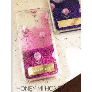 10%OFF Honey mi Honey ハニーミーハニー  glitter rose iPhonecase  19春夏. GB-31 iPhone・iPadケース iPhoneX.XS  定価 3300円|hearty-select
