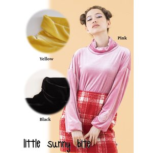 LITTLE SUNNY BITE(リトルサニーバイト)colorful Velor high neck top  17秋冬【LSB-LTOP-130H】|hearty-select