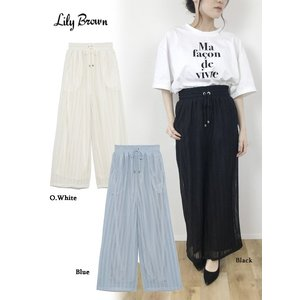 20%OFF Lily Brown(リリーブラウン)ウエストギャザーパンツ  19春夏. LWCP192057パンツ 定価8800円|hearty-select