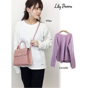 20%OFF Lily Brown リリーブラウン  ワッフルプルオーバー  19春夏 LWCT191023 カットソー  定価 6400円|hearty-select