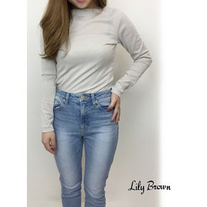 20%OFF Lily Brown リリーブラウン  ボートネックラメカットトップス  19春夏 LWCT191028 カットソー  定価 5400円|hearty-select
