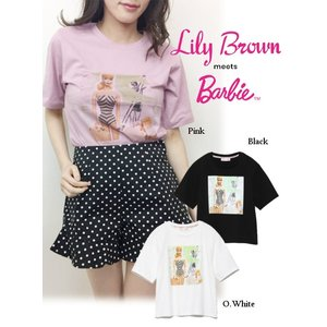 20%OFF Lily Brown リリーブラウン  BarbieビーチプリントTシャツ  19春夏 LWCT191203 Tシャツ  定価 6800円|hearty-select