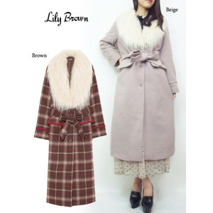 Lily Brown(リリーブラウン)ファー付チェスターコート  17秋冬【LWFC174007】|hearty-select