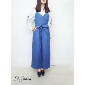 50%OFF Lily Brownリリーブラウン デニムオールインワン  17春夏 LWFO171002|hearty-select