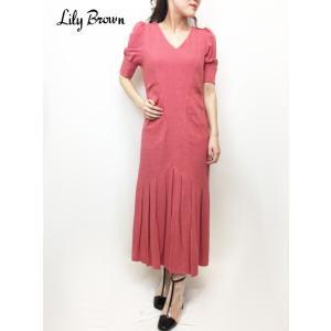 20%OFF Lily Brown リリーブラウン  レトロワンピース  19春夏 LWFO191030 マキシワンピース  定価 12800円|hearty-select