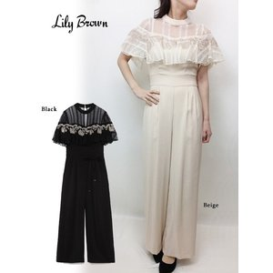 20%OFF Lily Brown リリーブラウン  フラワー刺繍ロンパース  19春夏 LWFO191042 オールインワン・コンビネゾン  定価 18000円|hearty-select