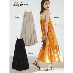 10%OFF Lily Brown リリーブラウン ボリュームマキシワンピース  19春夏.予約 LWFO192055マキシワンピース|hearty-select