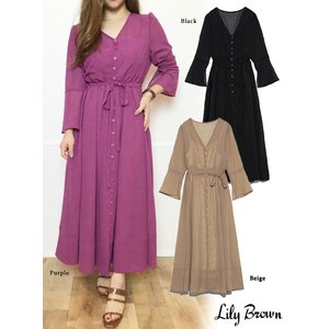 10%OFF Lily Brown リリーブラウン シースルーワンピース  19春夏.予約   LWFO192176|hearty-select